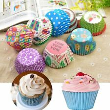 100 Pcs Paper Cupcake Cup Liners Baking Muffin Kitchen Cupcake Cases