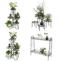 Garden Multi Tier Metal Plant Stand Flower Pot Rack Display Stand Shelf Home