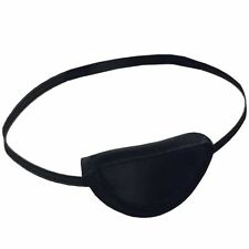 BLACK FABRIC MEDICAL EYEPATCH Washable Flexible Eye Patch Protection Eyeshade