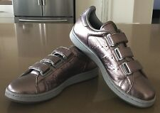 NEW Rare STAN SMITH ADIDAS Pewter Velcro Trainers Size US8/UK6.5/FR40/28cm