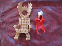 Fisher Price Imaginext NEW Throne Crown Cape Lion's Den Castle part chair armor