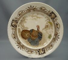Barnyard King Turkey Johnson Bros England Bone China Hand Engraved Dinner Plate