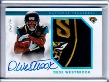 2017 National Treasures DEDE Westbrook RPA Patch Auto RC 1/1  Jaguars