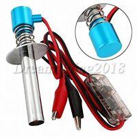6V-24V Upgraded Electronic Glow Plug Starter Igniter for RC Car Ratio Blue