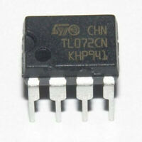 10 pcs TL072CN Original Pulled ST Microelectronics Operational Amplifier IC 8Pin