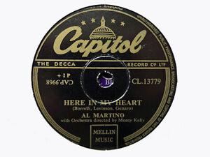 AL MARTINO - Here In My Heart / I Cried Myself To Sleep 78 rpm disc (A++)