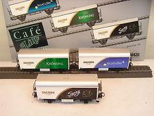 """Märklin H0 84420 Kühlwagen-Set """"Jacobs Cafe"""" mit drei Wagen    E95"""