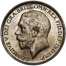 1911 PENNY - GEORGE V BRITISH BRONZE COIN - V NICE