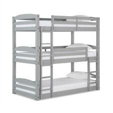 Dorel Living Sierra Triple Floor Wooden Bunk Bed in Gray