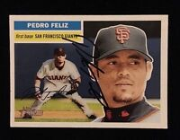 PEDRO FELIZ 2005 TOPPS Autograph Signed AUTO Baseball Card 256 GIANTS