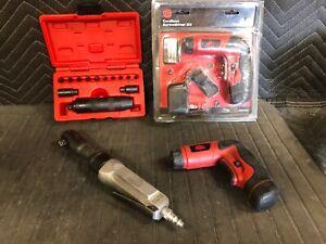 Mac Tools Tool Lot Impact Driver Set SID13BA, Air Ratchet Ar154, CDS 200 Driver