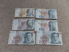 Job Lot  Collection Slovenian 6x Banknotes.Good Used Condition.