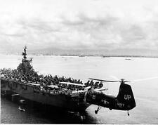Photo. 1954. USS Phillipine Sea CVA-47 Ship - HUP Helicopter