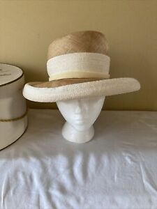 Mr. John Inc Vintage Mr. John Jr. Straw Hat With Box