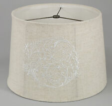 Embroidered Linen Shade, Softback,12x14x10, Washer Fitter