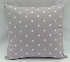 "Purple and white polka dot design fabric cushion covers 16""x16"""