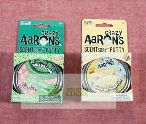Crazy Aarons- Scented Holiday Scentsory Putty Mintertime & GingerSnapper Lot x2