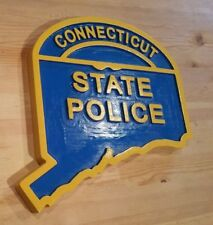Connecticut State Police Old Style 3D Routed  Patch Sign plaque Custom