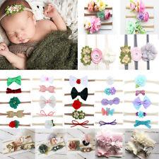Baby Girls Handmade Newborn Flower Headband Infant Toddler Knot Hair Band Sets