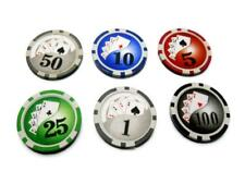 POKER FICHES SET 300 PEZZI CHIPS CON VALIGETTA IN METALLO 11,5GR Texas Hold'Em