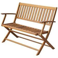 vidaXL Solid Acacia Wood Folding Garden Bench 2 Seater Outdoor Patio Park Chair