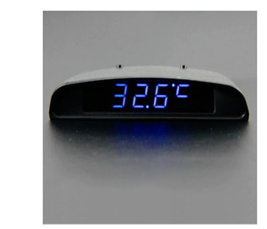 3 In 1 Car Clock Thermometer And Voltage Monitor Display Auto Interior Watch