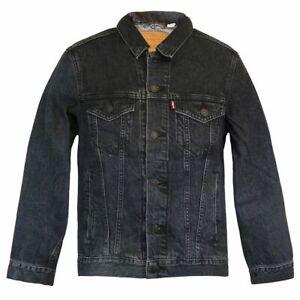 Levi's® Trucker Jacket - Fegin Jeansjacke Grau-Schwarz Herren Standard Fit