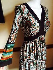 Beautiful Next Boho Dress 8 Ethnic Hippy Festival Vintage 70s Tribal 60s Stretch