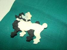 Vintage 50s  POODLES & HORSES Felt Applique Towels LOT 2 VGC Rhinestone