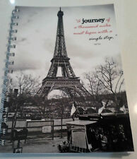 Travel diary Eiffel with quote