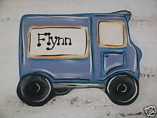 LINDY ART KIDS WALL ART DECOR DELIVERY TRUCK  CHOICE OF COLOURS