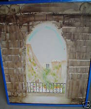 BIG Original Oil Painting Town in Valley SIGNED Humfeer