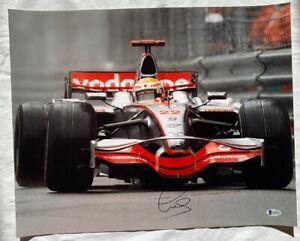 Lewis Hamilton signed 16x20 photo Formula 1 F1 2008 McLaren Mercedes *BECKETT*