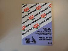 Catalogo parti parts catalogue APRILIA AMICO 50 cat LX SPORT 1992