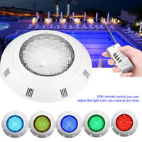 24W 12V 24 LED RGB Multi-Color Luz Sumergible Piscina Lámpara con Remoto Control