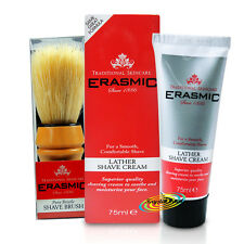 Erasmic Espuma Afeitar Crema 75ml Manzanilla & Natural Puro Cerda Brocha de afeitar