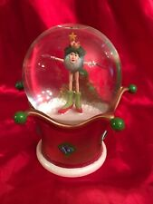 Dept 56 Snow Globe Krinkles Blue Rhinestones Winter Red Heels Star