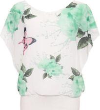 T-shirt, maglie e camicie da donna senza maniche, taglia comoda verde