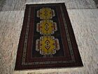 3'10 x 6'7 Handmade afghan tribal best quality herat adraskan rare wool area rug
