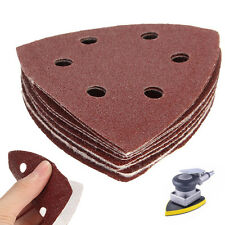10Pcs 90mm Sanding Sheets Triangle Mouse Detail Sander Pads 40 60 80 100 120Grit