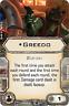 X-wing miniatures game upgrade card - Greedo Crew