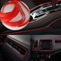 5M Line Red Car Van Interior Decor Point Edge Gap Door Panel Accessories Molding