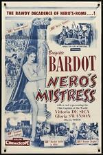 NERO'S MISTRESS one sheet movie poster 27x41 BRIGITTE BARDOT 1956 Rare