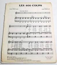 Partition vintage sheet music ERIK MONTRY : Les 400 Coups * 60's DELANOE ORTF