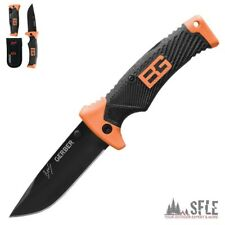 GERBER Bear Grylls Folding Knife, BG Einhand-Messer, glatte Klinge, Outdoor