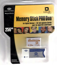 Lexar Media 256MB Memory Stick Pro Duo + Duo Adapter includes Magic Gate