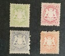 Germany, lot of old Bavaria stamps mint w/hr and thins