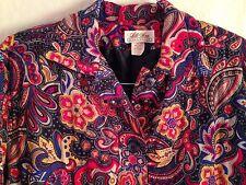 Vintage Lilli Ann Collections Paisley Windbreaker Union Label USA Made Medium