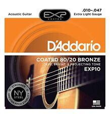 D'addario Exp10 Coated 80/20 Bronze 010-047