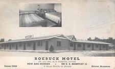 EUTAW AL Roebuck Motel Highway 11 Roadside Alabama Vintage Postcard 1951